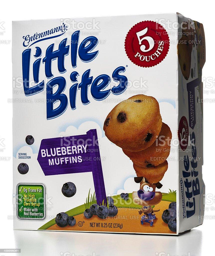 Entenmann's Little Bites Bluberry Muffins box royalty-free stock photo