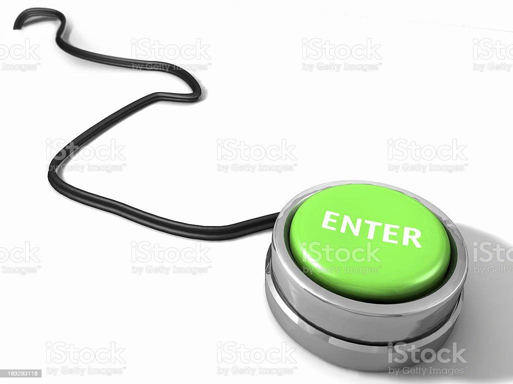 Enter Button royalty-free stock photo