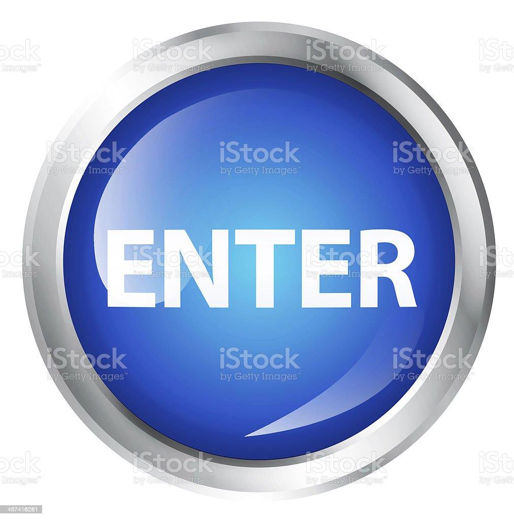 Enter icon royalty-free stock photo