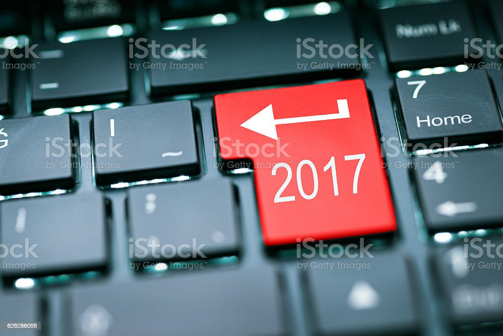Enter in 2017 year stock photo