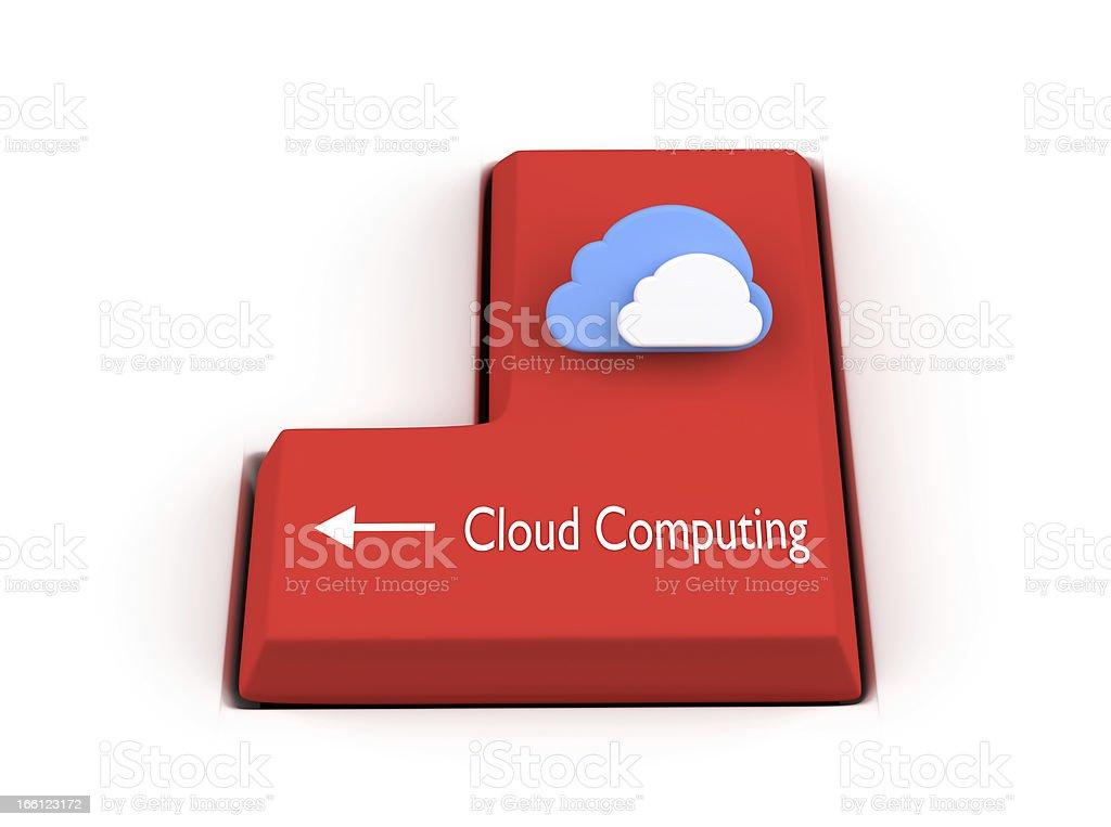 Enter key concept - Cloud computing royalty-free stock photo