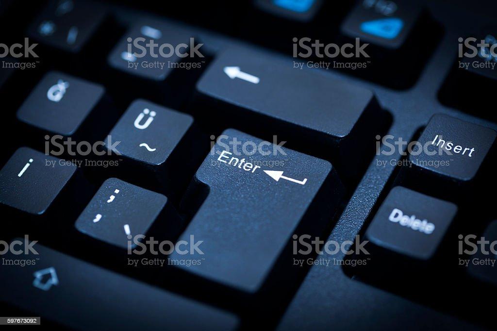 Enter Key stock photo