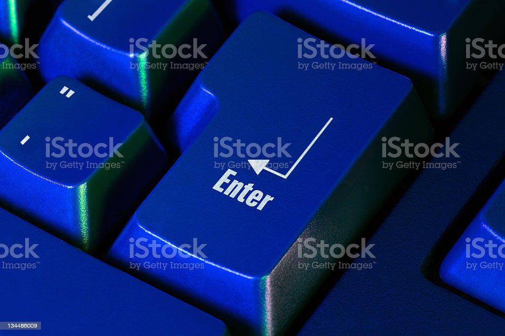enter keyboard key royalty-free stock photo