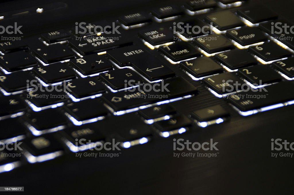 Enter LED royalty-free stock photo