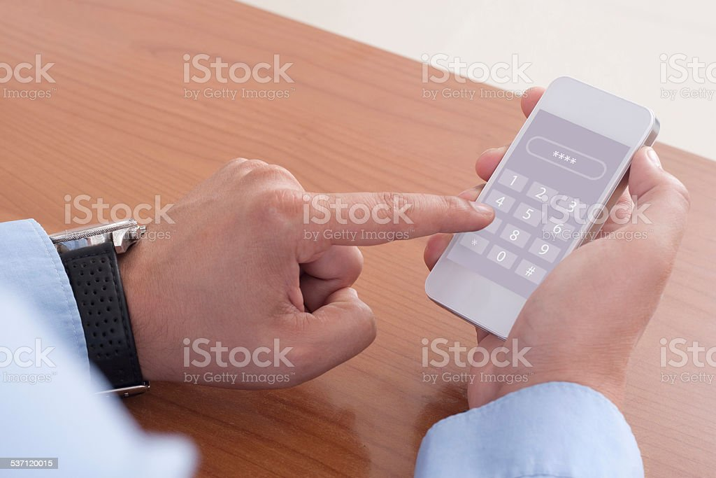 enter passcode stock photo