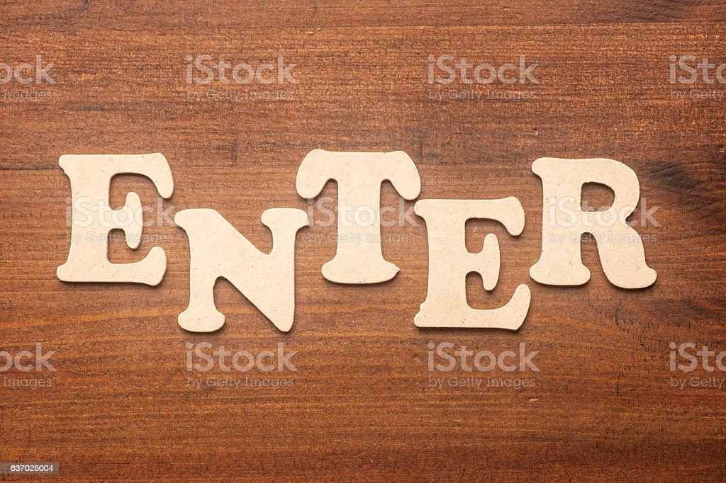 enter stock photo
