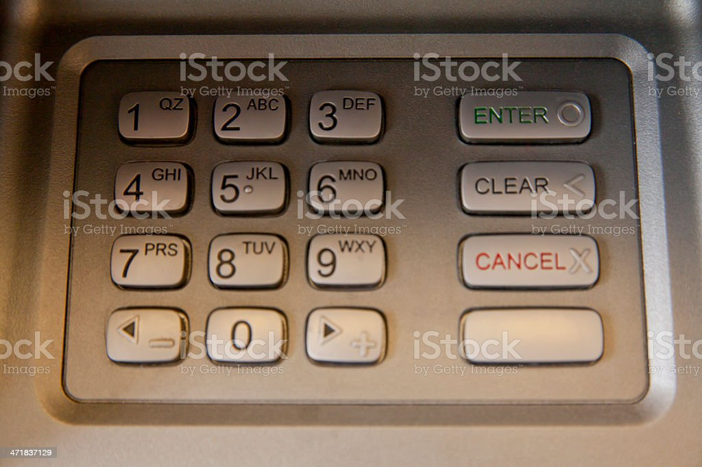 enter security code at ATM royalty-free stock photo
