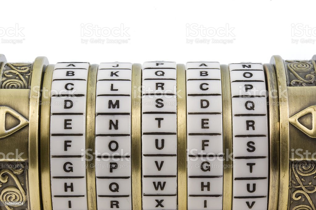 enter set up as a password to combination puzzle box royalty-free stock photo