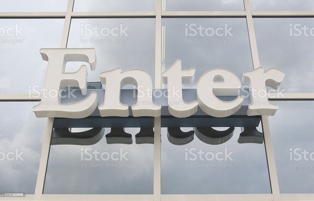 Enter sign royalty-free stock photo