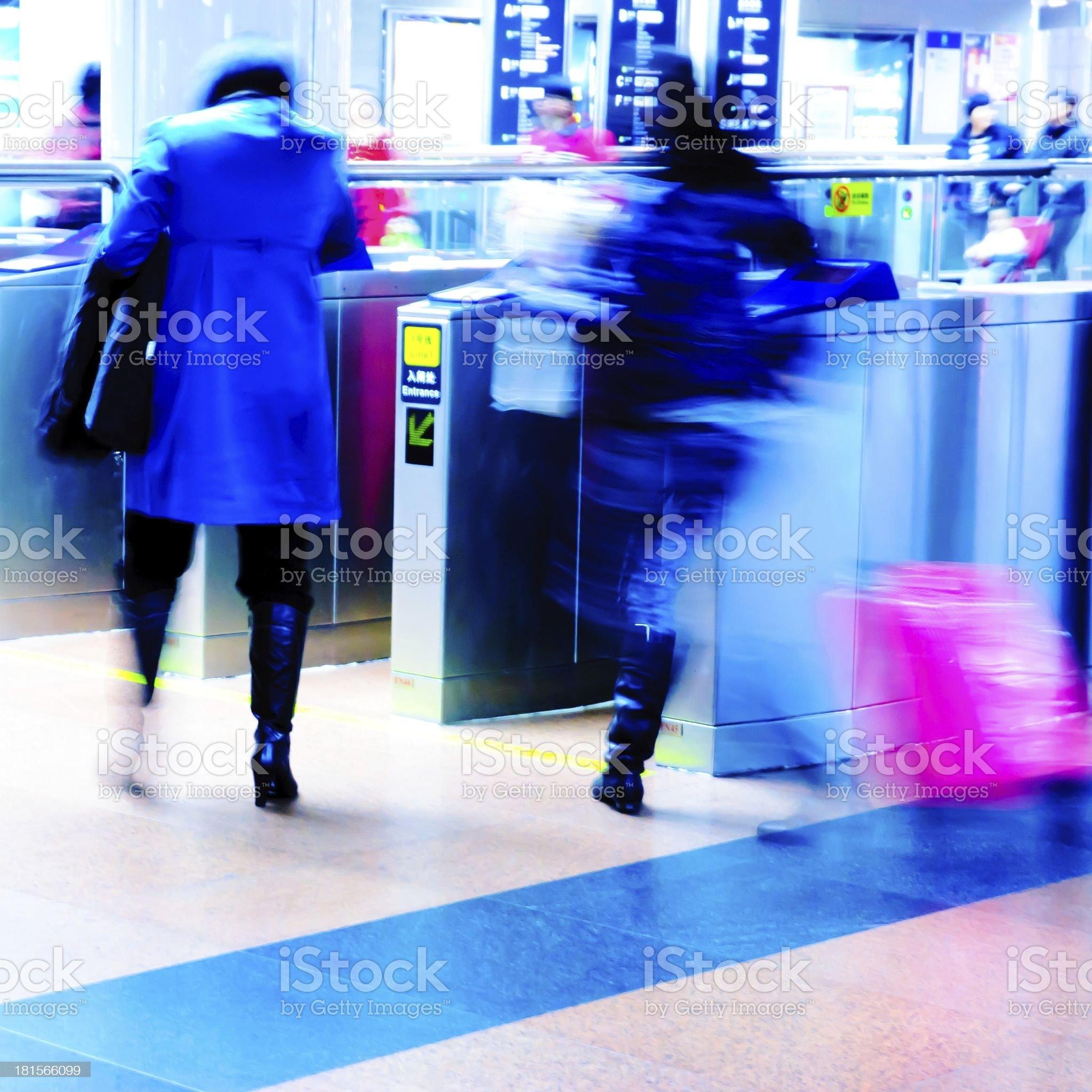 enter subway station royalty-free stock photo