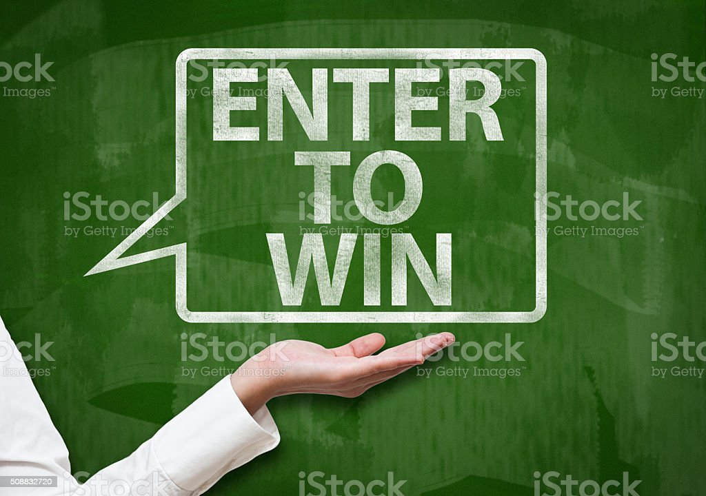Enter to win / Greenboard concept (Click for more) stock photo