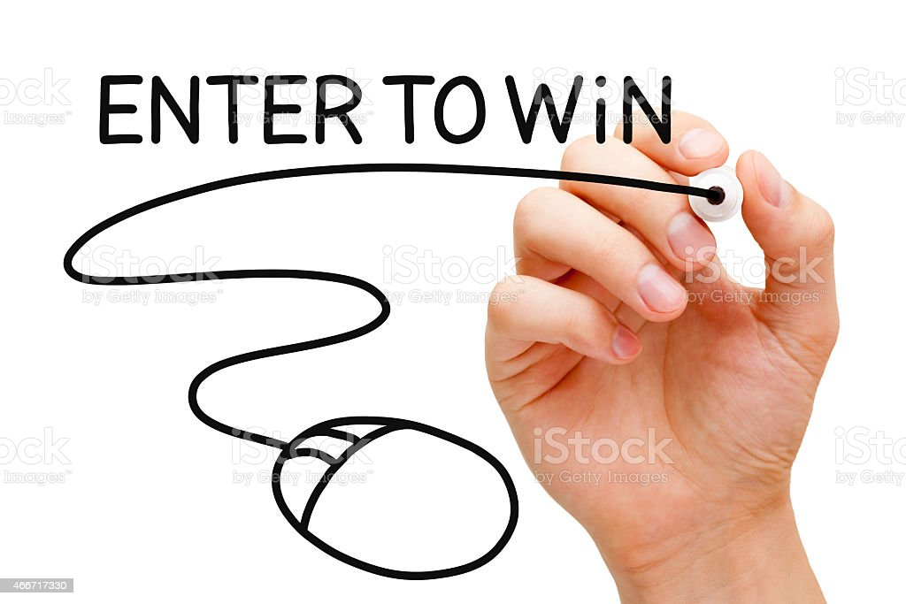 Enter to Win Mouse Concept stock photo