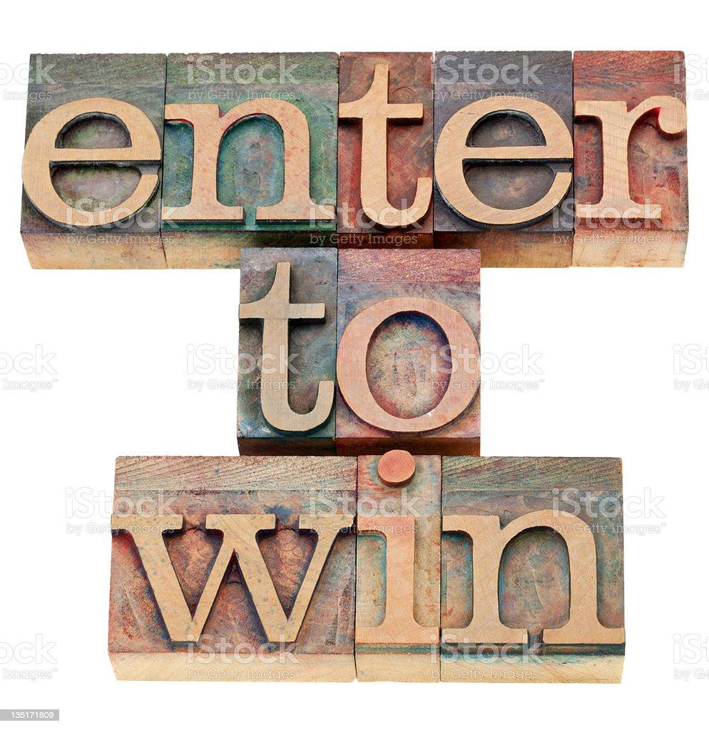 enter to win royalty-free stock photo