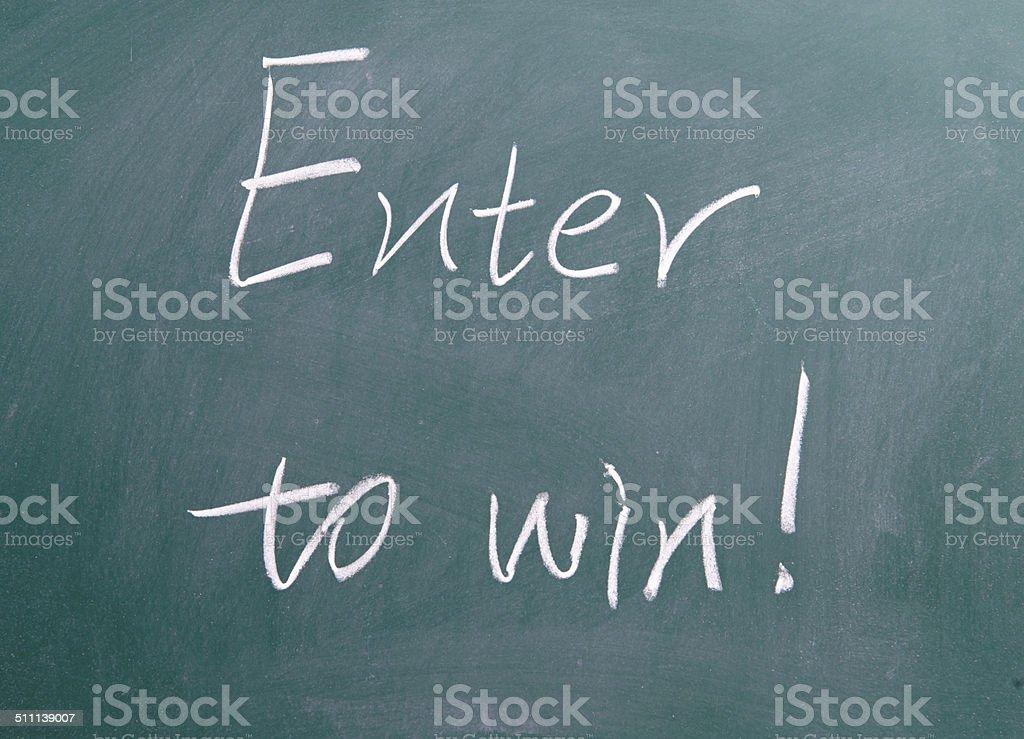 Enter to win ! stock photo