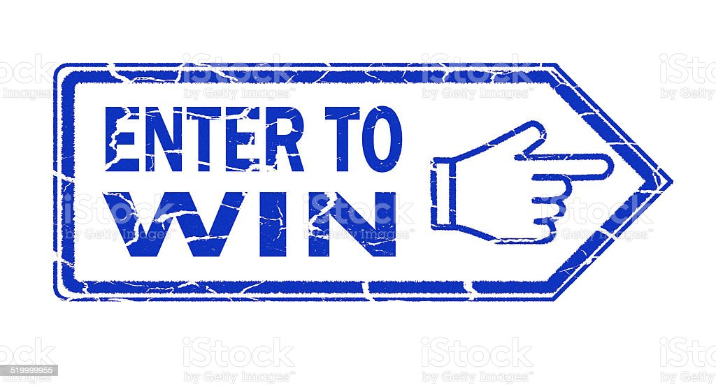 enter to win stamp stock photo