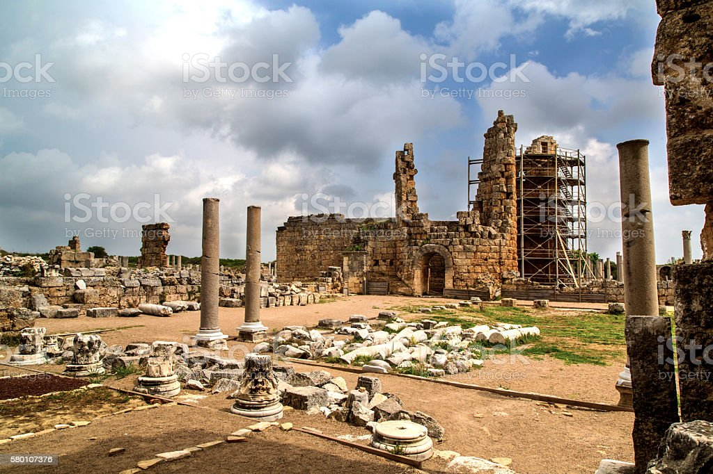 Enterance On Ancient City stock photo