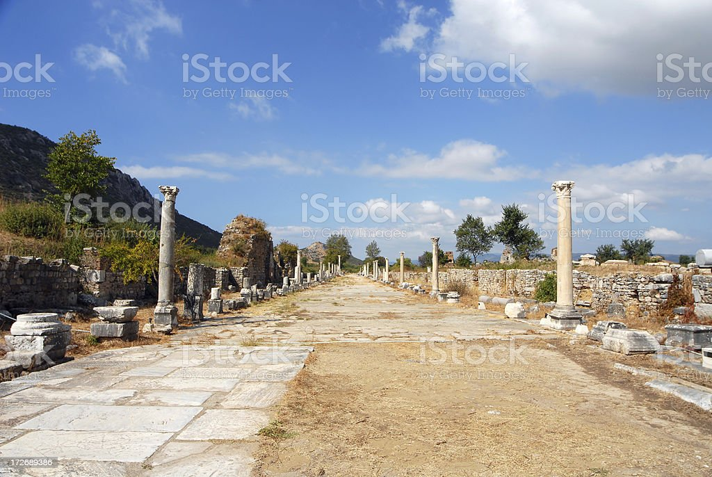 Enterance to Ephesus Ancient City, Turkey stock photo