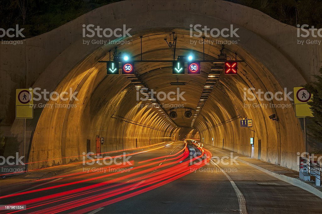 Entering a Tunnel royalty-free stock photo