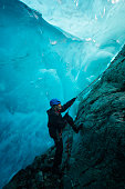 Entering a world of blue ice