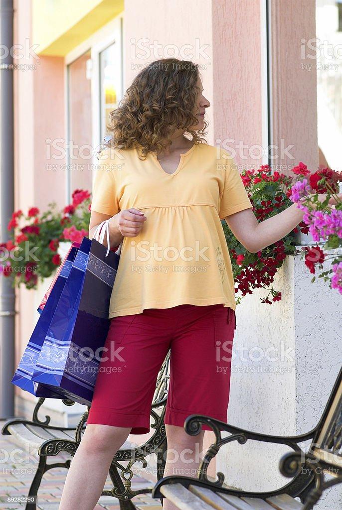 Entering boutique stock photo