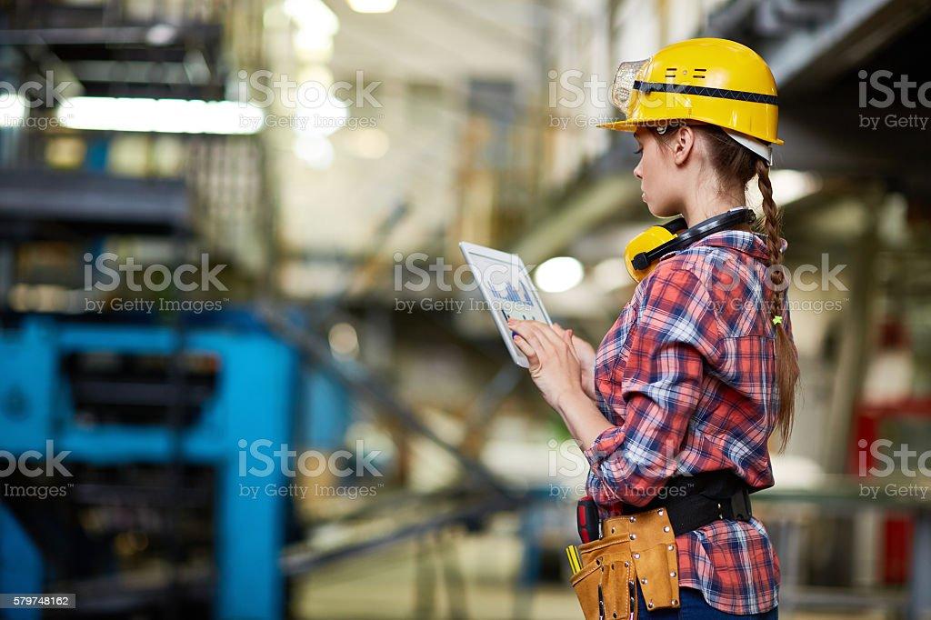 Entering data stock photo