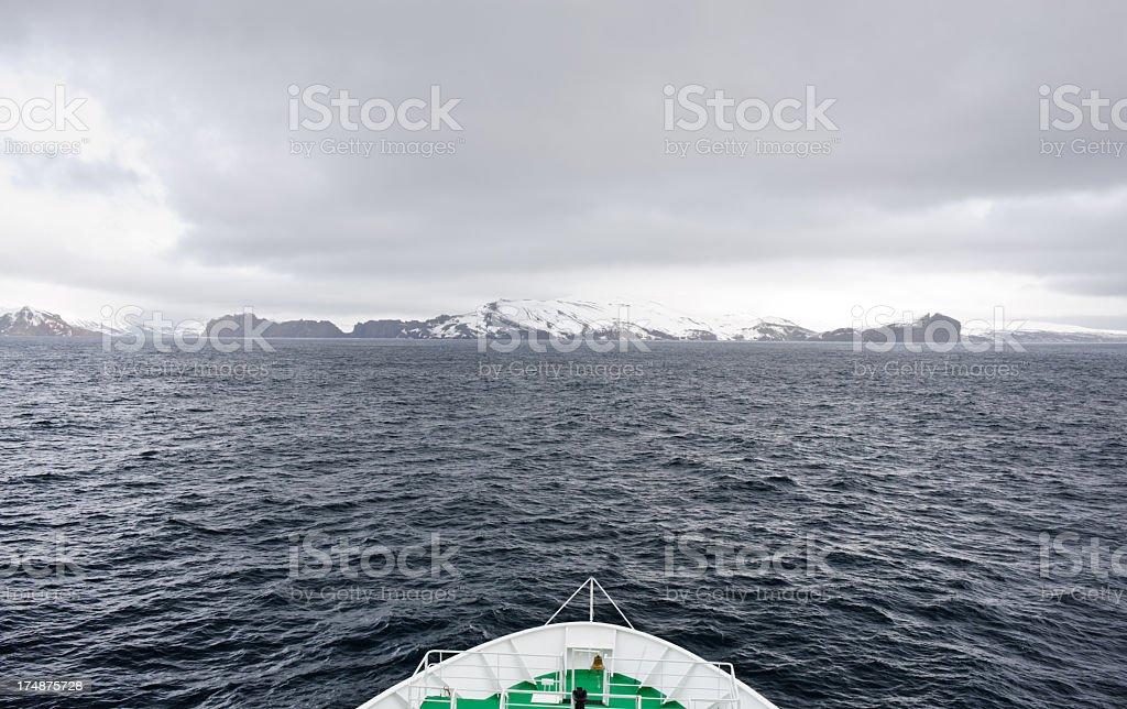 Entering Deception Island royalty-free stock photo
