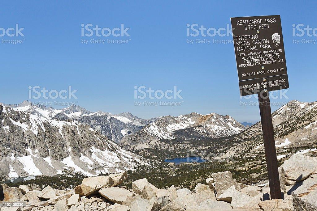 Entering Kings Canyon National Park stock photo