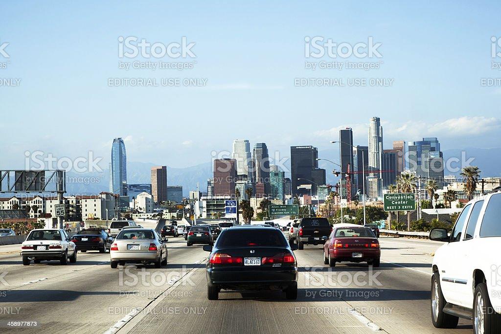 Entering Los Angeles stock photo