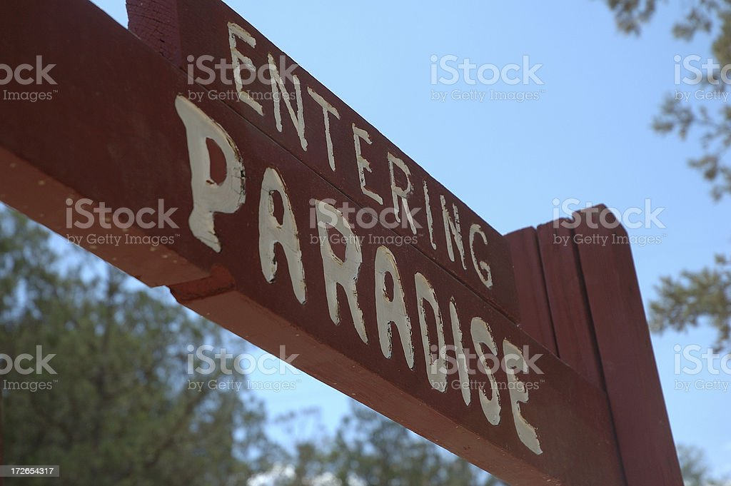 Entering Paradise royalty-free stock photo