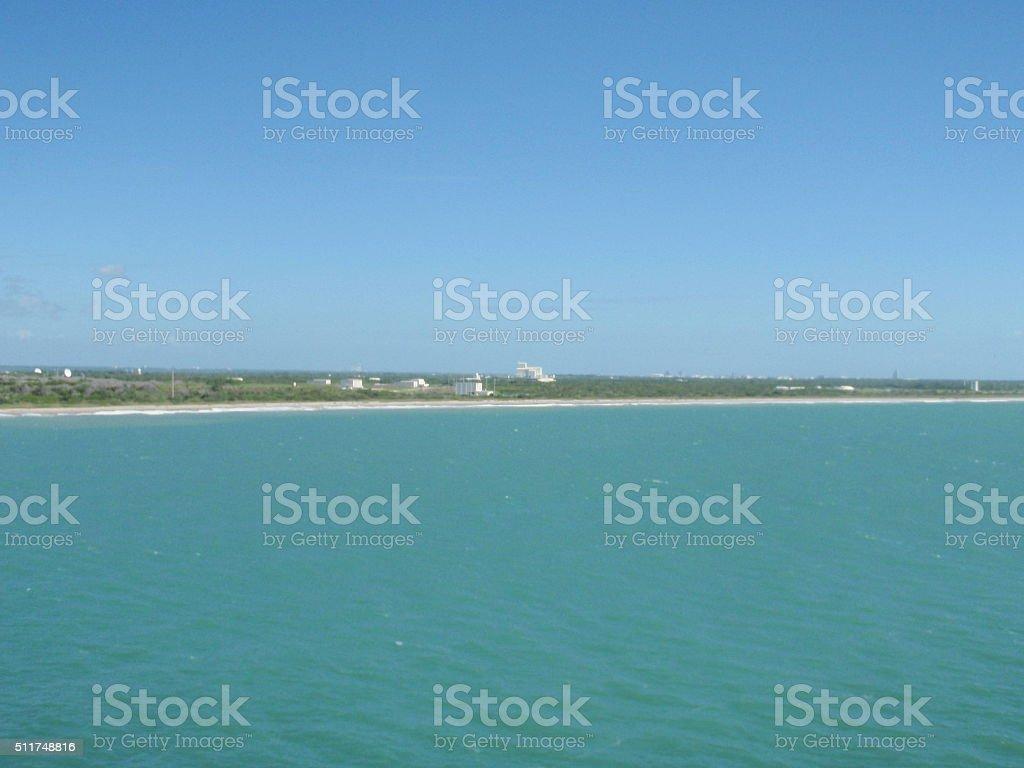 Entering Port Canaveral, Florida stock photo