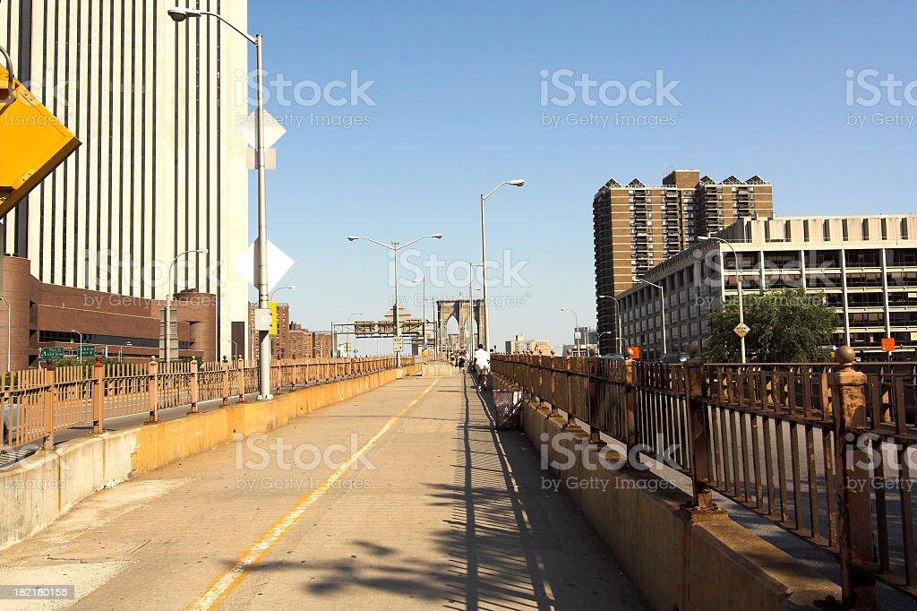 Entering the Bridge royalty-free stock photo