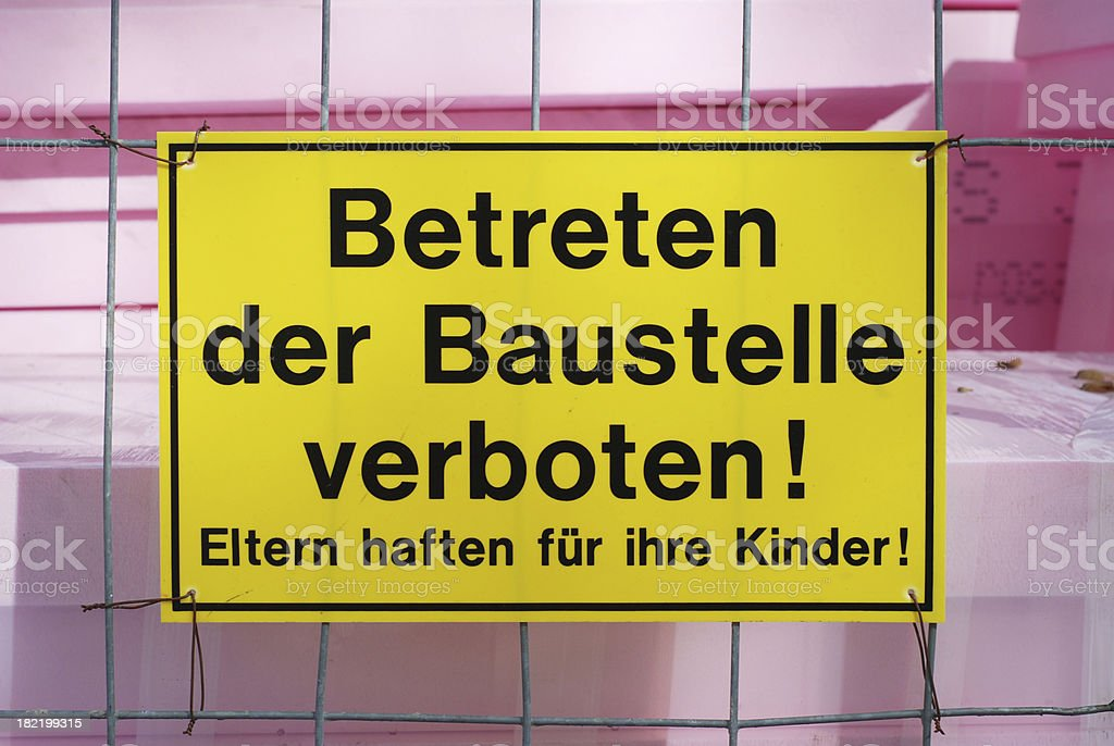 Betreten der Baustelle verboten stock photo