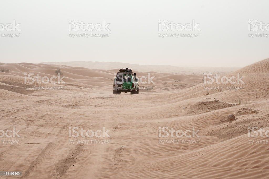 Entering the Grand Erg Oriental (Sahara) royalty-free stock photo