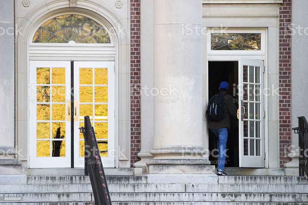Entering the Library royalty-free stock photo