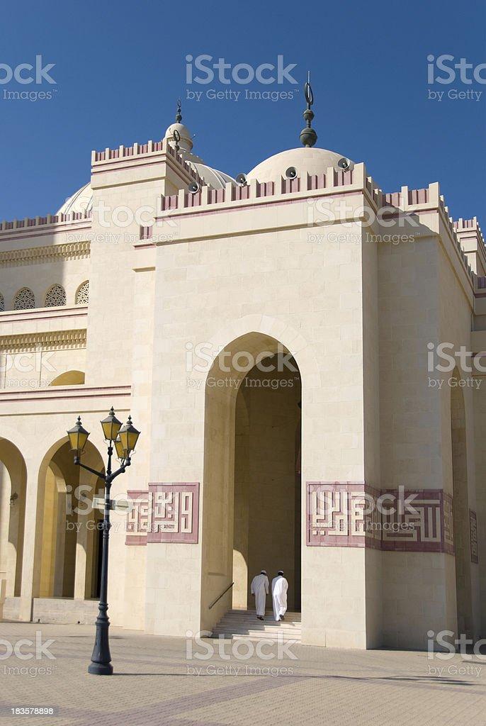 Entering the Mosque stock photo
