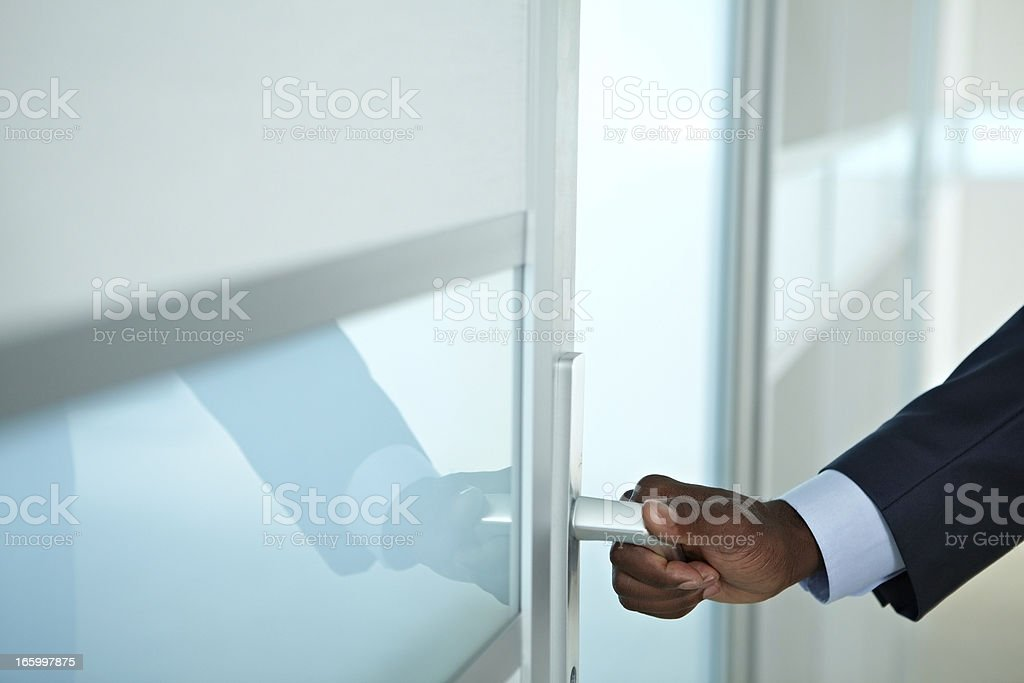 Entering the office royalty-free stock photo