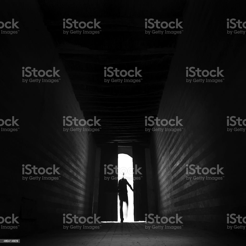 entering the unknown stock photo