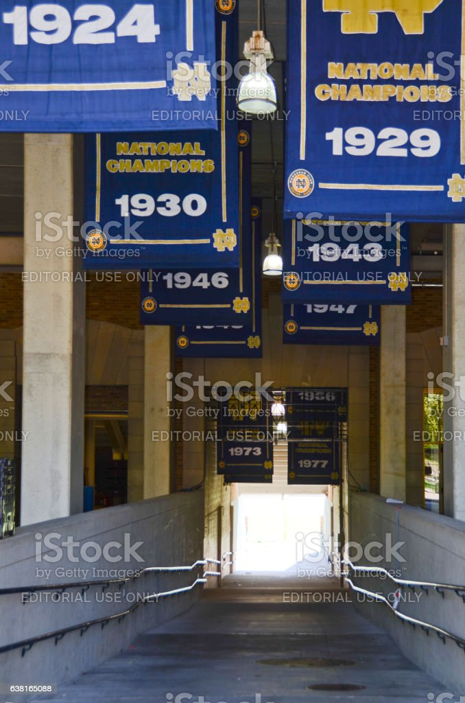 Entering University of Notre Dame Football Stadium stock photo