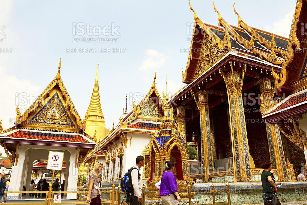 Entering Wat Phra Kaeo royalty-free stock photo