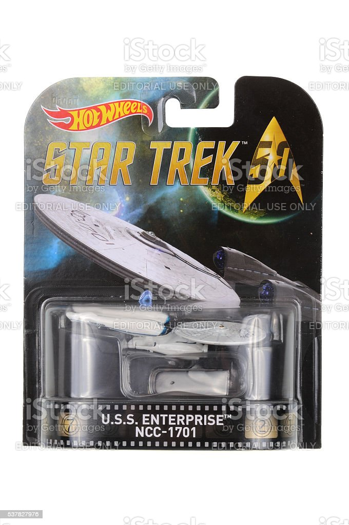 USS Enterprise Hot Wheels Diecast Toy Vehicle stock photo