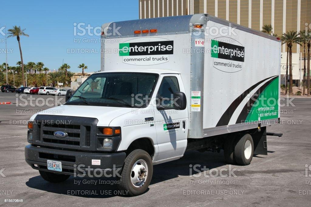Enterprise rental truck stock photo