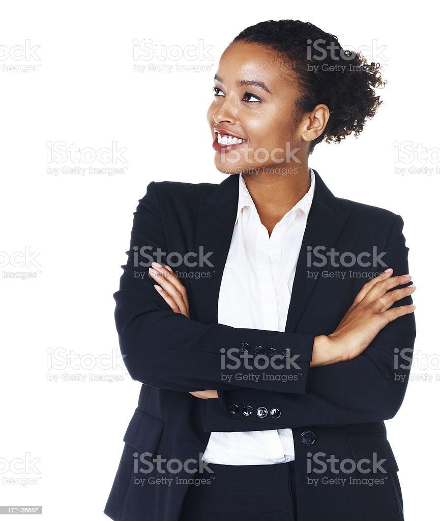 Enterprising executive formulating ideas stock photo