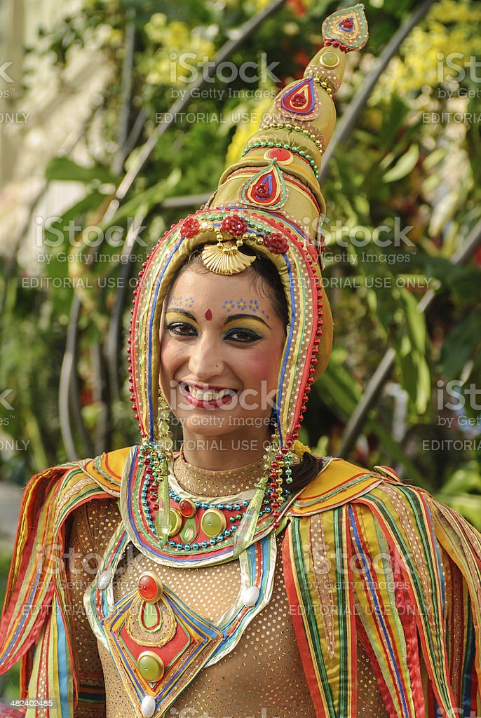 Entertainer at the Nice Flower Carnival royalty-free stock photo