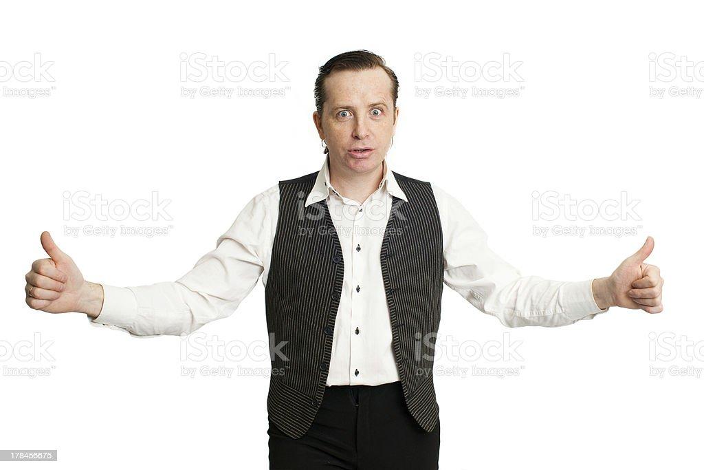 Entertainer stock photo