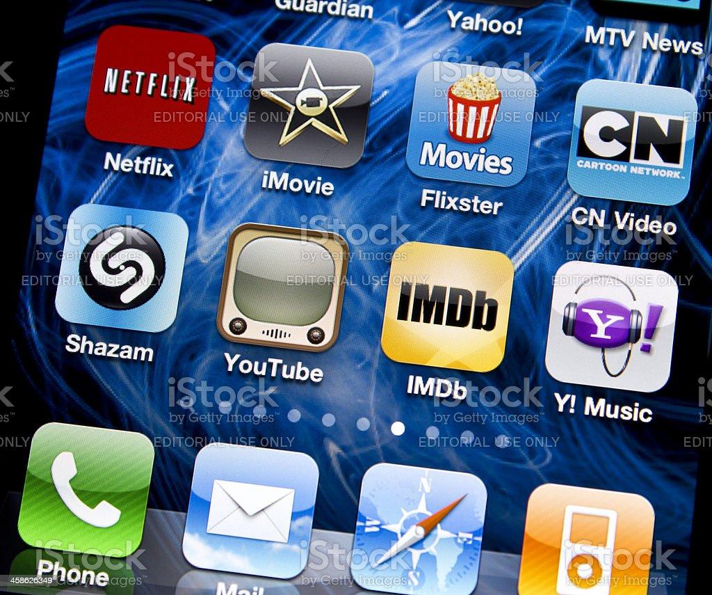 Entertainment applications stock photo