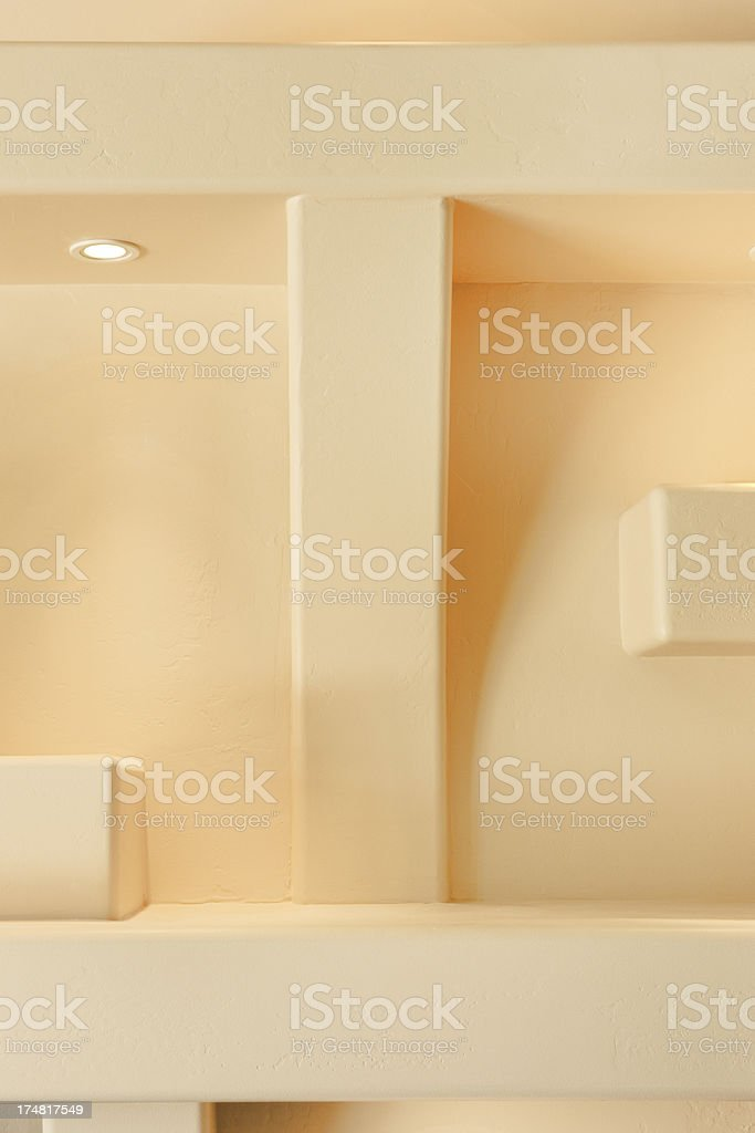 Entertainment Center Niche Wall Decor royalty-free stock photo