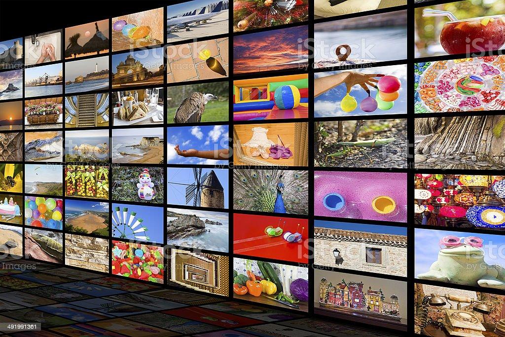 HDTV entertainment concept stock photo