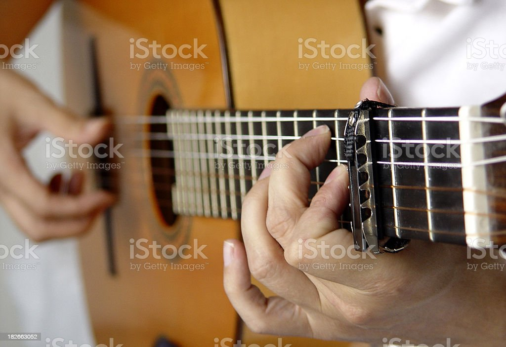 Entertainment - Guitar Player Close Up royalty-free stock photo
