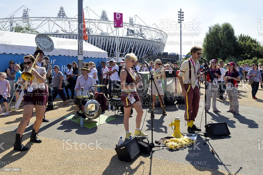 Entertainment in London's Olympic Park stock photo
