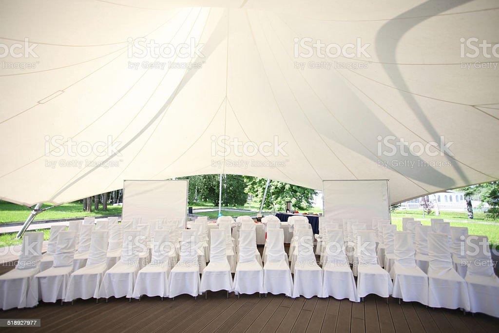 Entertainment Tent stock photo